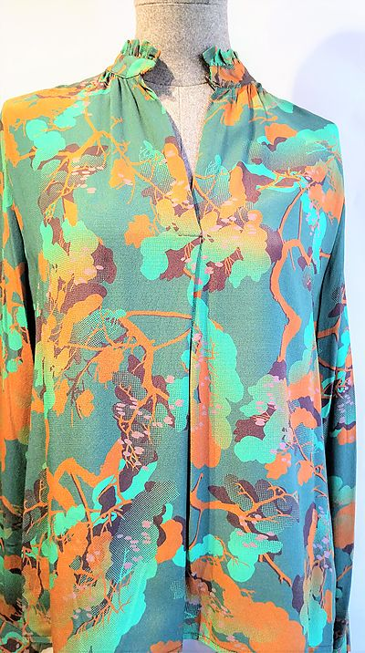 Blouse Goodmatch green printed