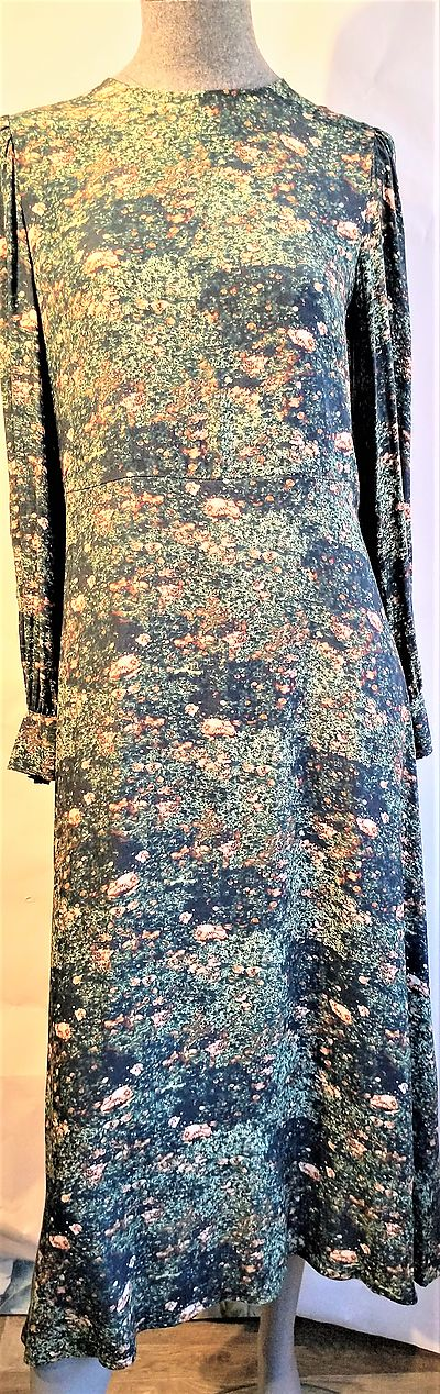 Dress Goodmatch green printed long