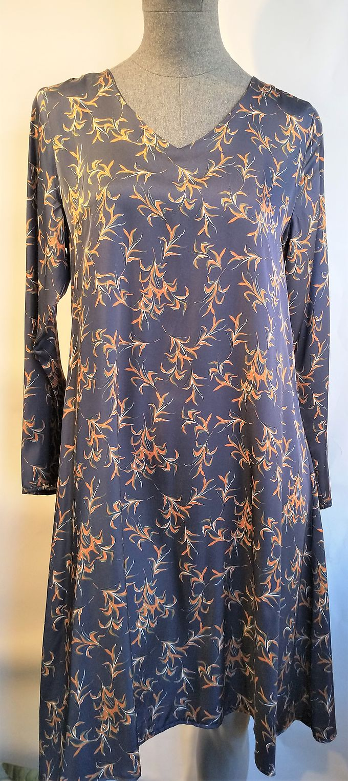 Dress la fée maraboutée blue printed