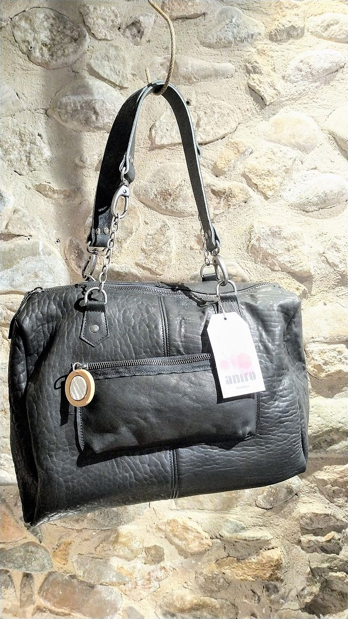 Bag Aniro Roma leather black