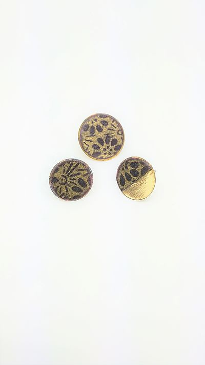 Japanese paper and brass earrings (3)