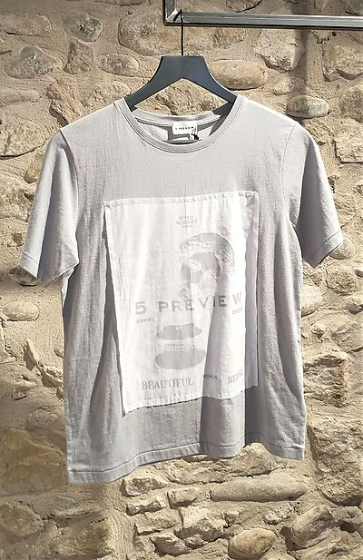 T-shirt 5Preview grey white